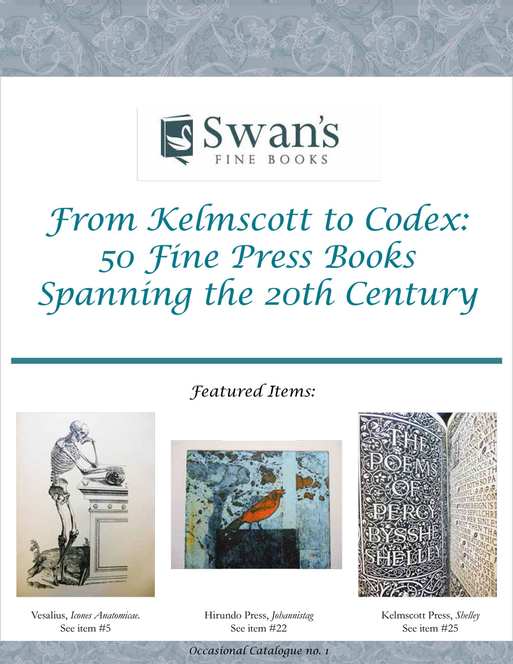 Catalogue 1 – Fine Press Books of the 20th Century