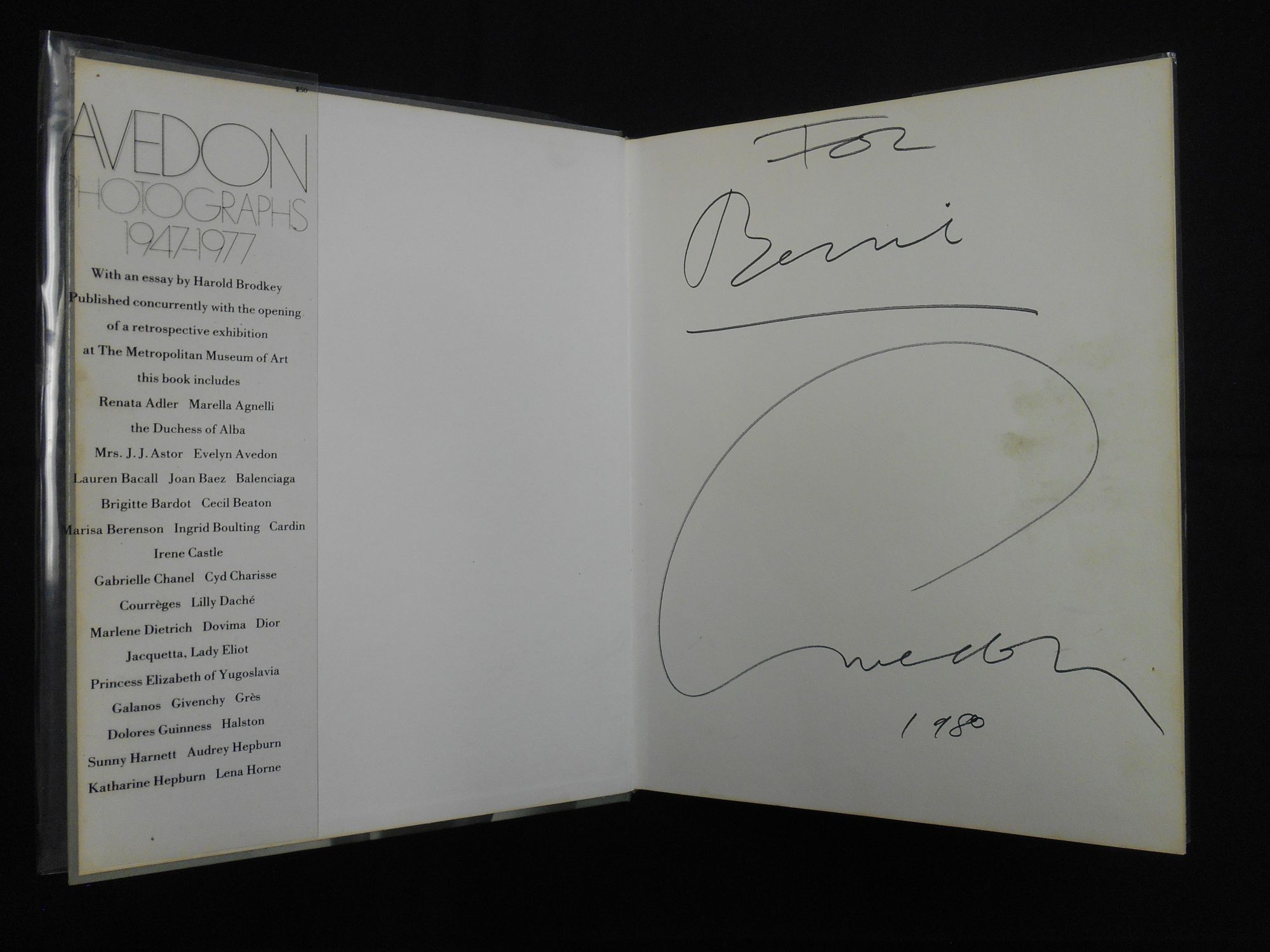 Fine Avedon Photographs 1947 1977 Inscribed Harold Brodkey Richard Wiring Cloud Hisonuggs Outletorg