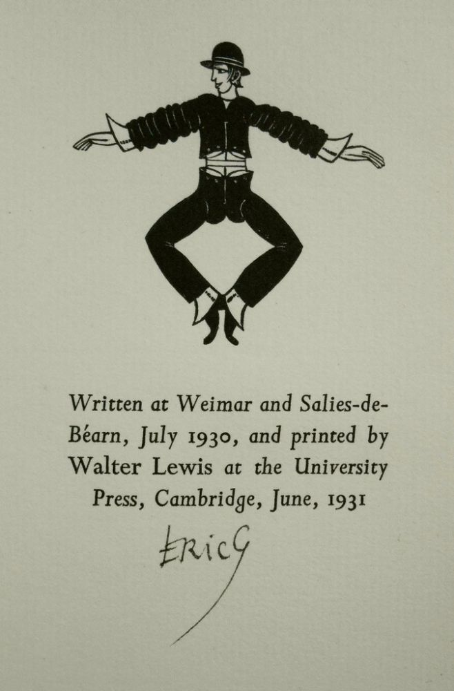 Clothes, An Essay Upon the Nature and Significance of the Natural and Artificial Integuments Worn by Men and Women. Eric Gill, Author and Engravings.
