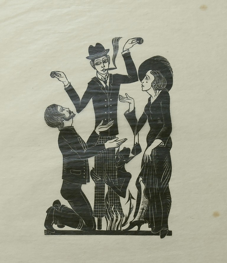 The Purchaser [Print on Tissue]. Eric Gill, Artist.