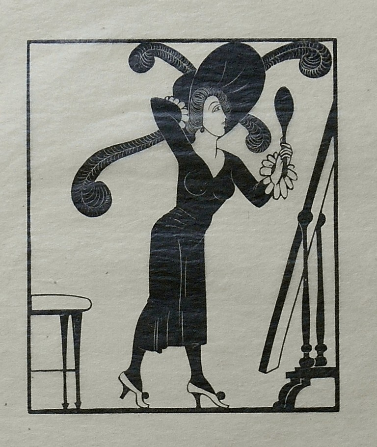 Dress, 1920 [Print on Tissue]. Eric Gill, Artist.