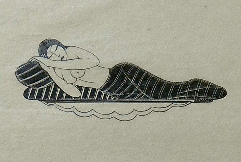 Girl Sleeping [Print on Tissue]. Eric Gill, Artist.