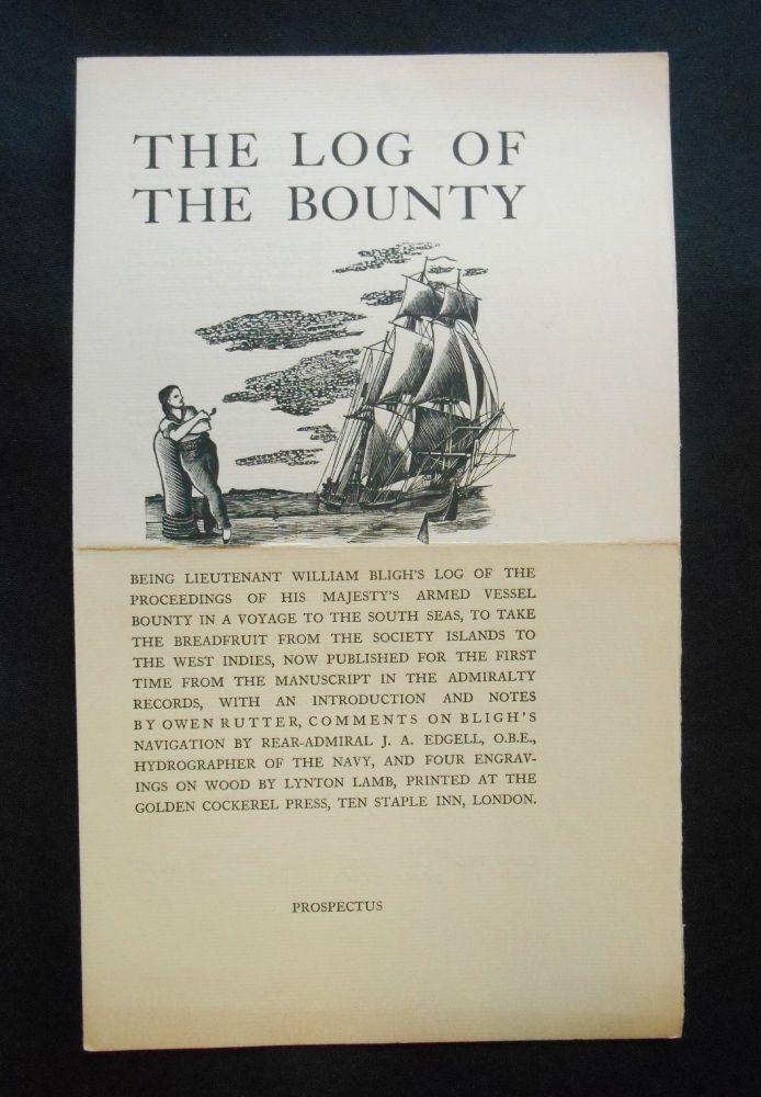 [Prospectus Only] The Log of The Bounty. William Bligh, Lynton Lamb, Artist.