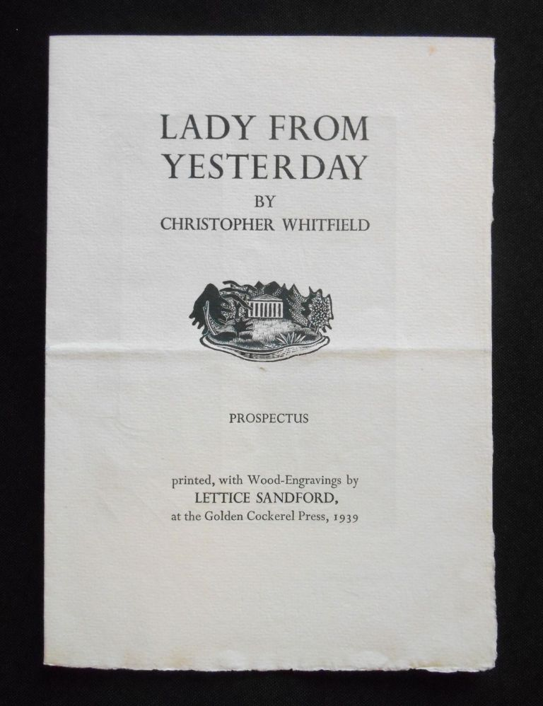 [Prospectus Only] Lady From Yesterday. Christopher Whitfield, Lettice Sandford, Artist.