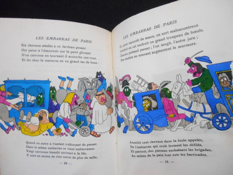 Les Embarras de Paris [The Embarrassment of Paris]; (Satire VI). Boileau-Despreaux, Dubout, Illustrations, Albert.