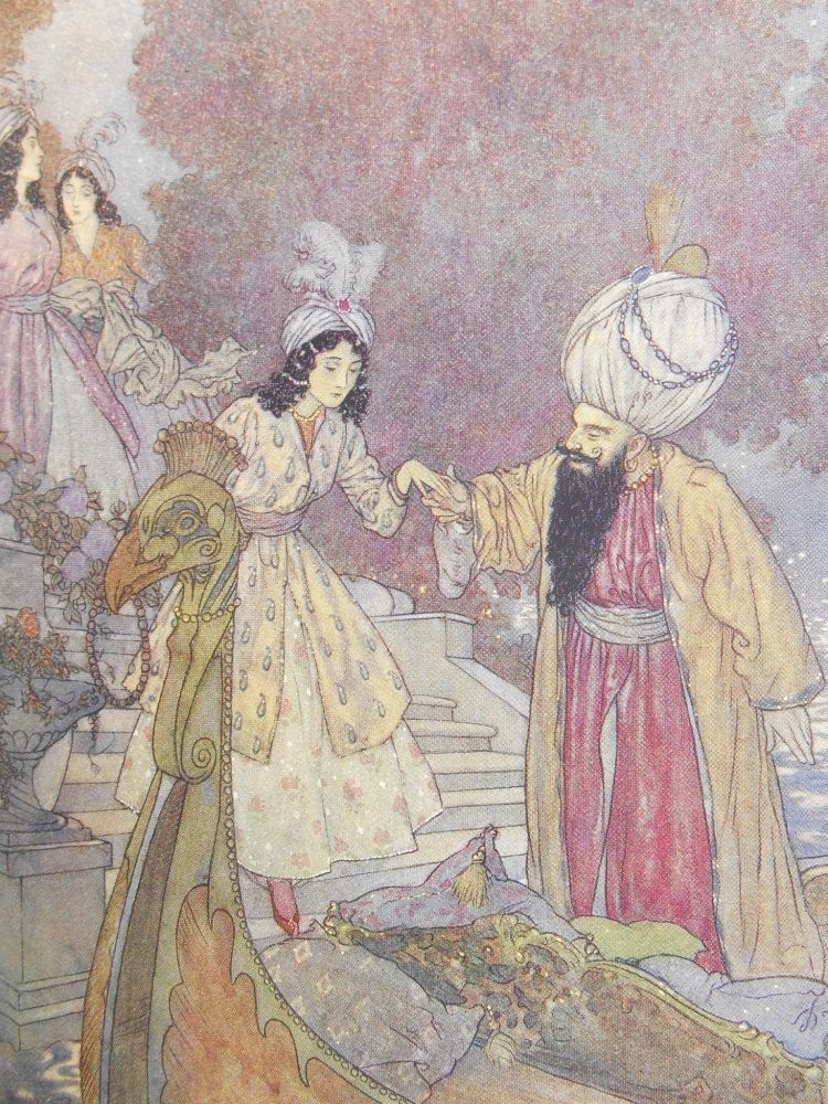 The Sleeping Beauty, and Other Fairy Tales. Sir Arthur Quiller-Couch, Edmund Dulac, Illustrations.