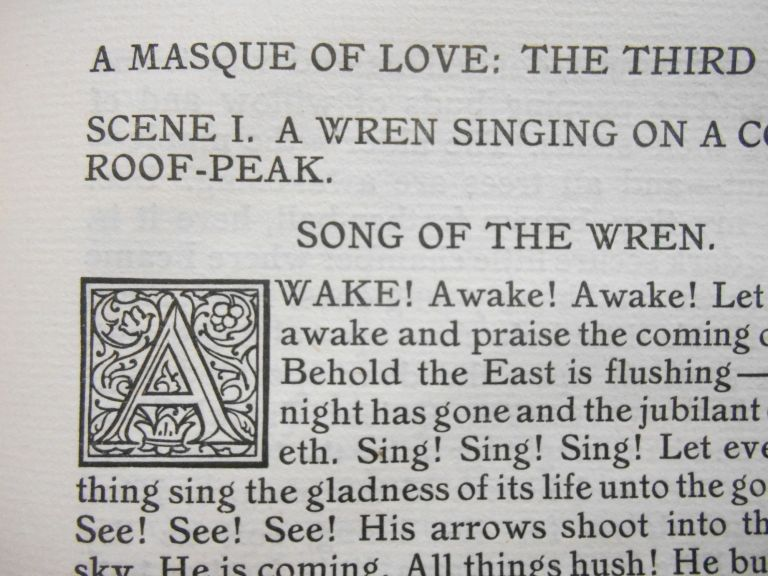 A Masque of Love. Charles Erskine Scott Wood, Decorations, Helen Marguerite O'Kane.