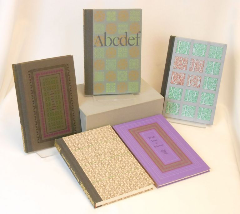 A Gathering of Types [with] A Decorative Divertissement [and with] Florilegium Typographia [and] With Line and Flower [and also with] ABCD: Initials and Display Alphabets [Five Volumes]. Richard J. Hoffman.