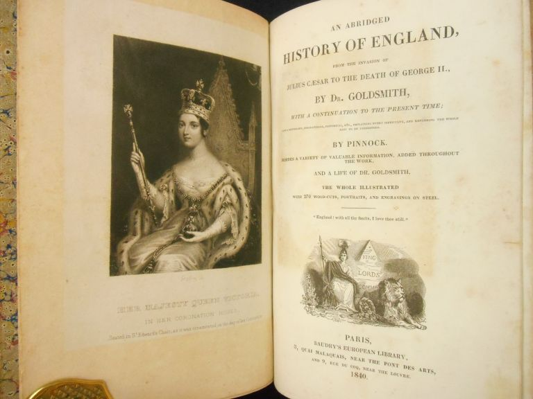 An Abridged History of England,; From the invasion of Julius Caesar to the death of George II. Goldsmith, Oliver.