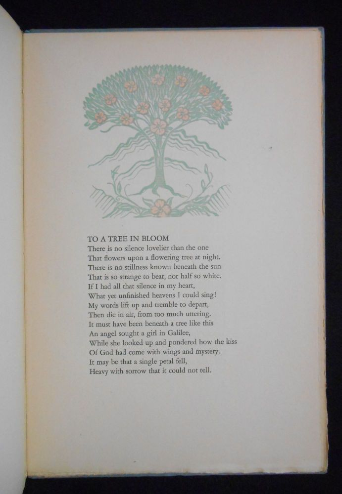 A Tree in Bloom and Other Verses. Hildegarde Flanner, Frederic Monhoff, Decoration.