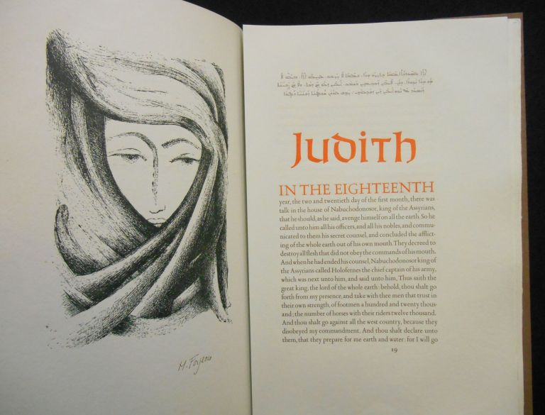 Jonah Judith Ruth; Three Stories From the Old Testament, King James Authorized Version. Biblical Text, Michèle Forgeois.