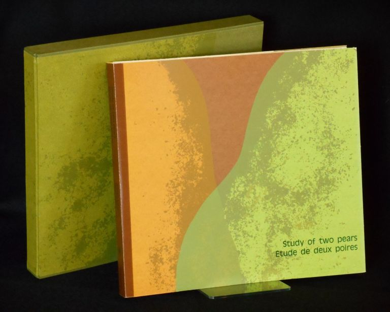 Study of Two Pears / Etude de deux poires [ARTIST BOOK - Judith Rothchild]; A Poem by Wallace Stevens with a translation into French by Bernard Noel and mezzotints by Judith Rothchild. Wallace Stevens, Judith Rothchild, Bernard Noel, Artist.