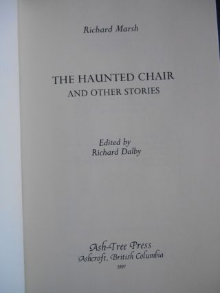The Haunted Chair