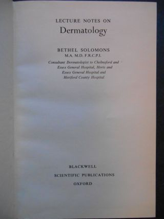 Lecture Notes on Dermatology