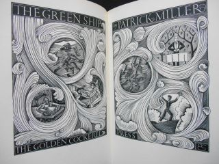 The Green Ship [with Prospectus]. Patrick Miller, Edward Garnett, Introduction, Eric Gill, Illustrator.