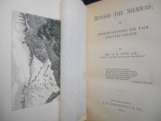 Beyond The Sierras; or, Observations on the Pacific Coast