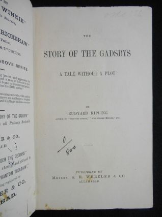 The Story of The Gadsbys, A Tale Without a Plot