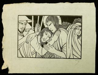 The Kiss of Judas [Proof Plate]. Eric Gill, Artist.