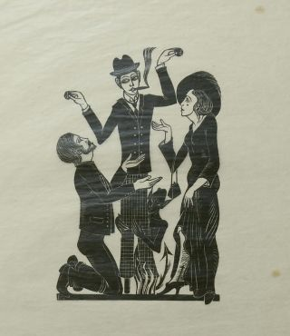 The Purchaser [Print on Tissue]. Eric Gill, Artist