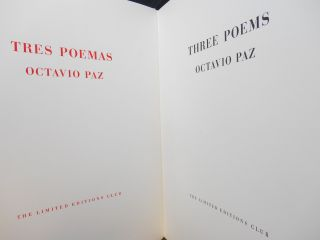 Tres Poemas, Three Poems