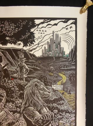 """Rolling in Oz"" [Roadworks Linocut]"