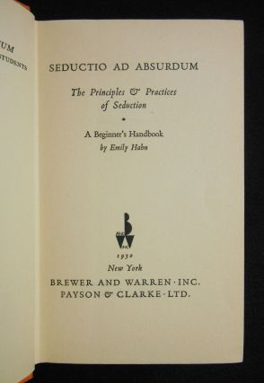 Seductio ad Absurdum; The Principles & Practices of Seduction