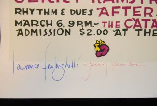 Bluebird presents An Evening of Auditory Assault; Featuring Poet Lorenzo Ferlinghetti Proser Jerry Kamstra and Rhythm & Dues After / Sunday, March 6, 9 p.m. / The Catalyst, Admission $2.00 at the Door