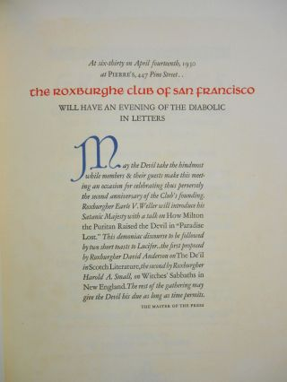 Chronology of Twenty-Five Years, The Roxburghe Club of San Francisco, 1928-1953