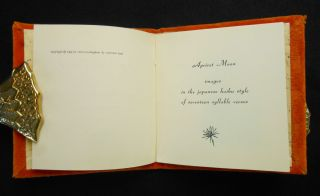 Apricot Moon; images in the japanese haiku style of seventeen syllable verses