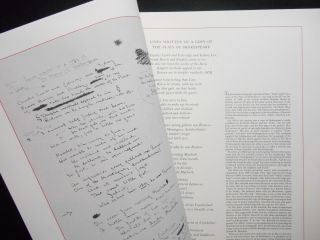 Lines Written in a Copy of the Plays of Shakespeare. Roxburghe, Zamorano Clubs - Joint Meeting...
