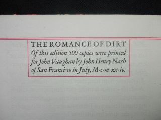 The Romance of Dirt; Being an exposition on the adventures of a Knight of the Soil