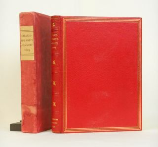 Shakespeare's Sonnets; Now faithfully Reprinted from the Original Edition of 1609. William...