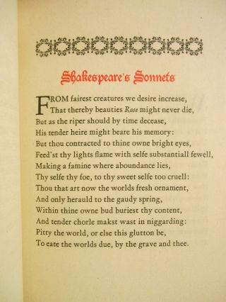 Shakespeare's Sonnets; Now faithfully Reprinted from the Original Edition of 1609...
