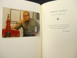 con Amore Valenti Angelo: A Bibliography 1971-1982; with Reminiscences by his Friends