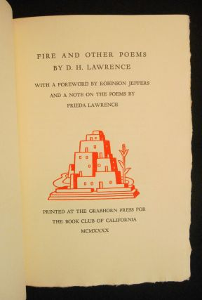 Fire and Other Poems
