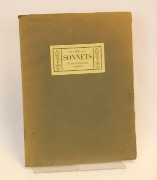 [Six Sonnets - wrapper title] Sonnets Preceding the Inferno, Purgatorio, and Paradiso of the Comedy of Dante Alighieri of Florence by Henry Wadsworth Longfellow