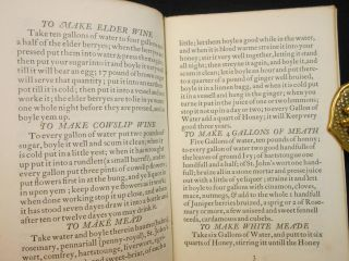 A Plain Plantain; Country Wines, Dishes, & Herbal Cures, from a 17th Century Household M. S. Receipt Book