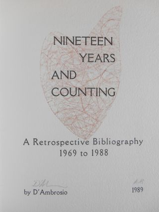 Nineteen Years and Counting, A Retrospective Bibliography, 1969-1988