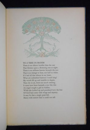 A Tree in Bloom and Other Verses. Hildegarde Flanner, Frederic Monhoff, Decoration
