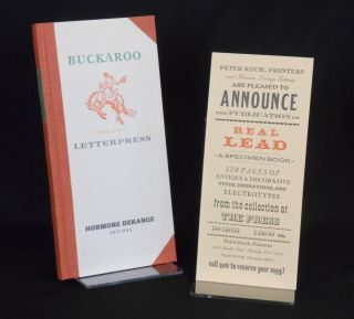 Real Lead; Deep Drive Letterpress Printing. Type Specimens.