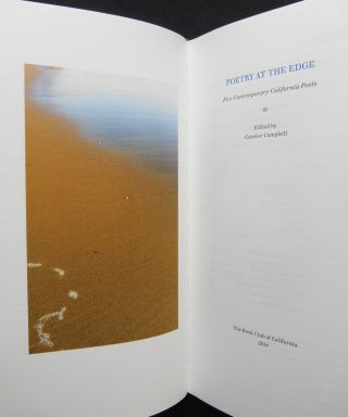 Poetry at the Edge; Five Contemporary California Poets. Carolee Campbell, Kay Ryan, Joseph...
