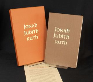 Jonah Judith Ruth; Three Stories From the Old Testament, King James Authorized Version