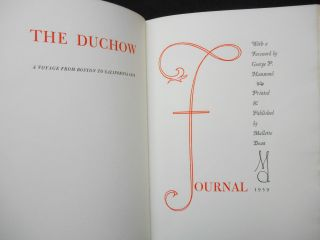 The Duchow Journal; A Voyage from Boston to California