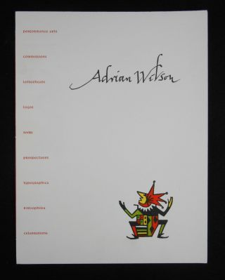 Prospectus for] The Ephemera of Adrian Wilson; An Annotated List, 1944-1988. James Linden, Joyce...