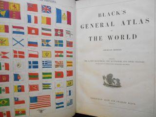 Black's General Atlas of the World, American Edition, Embracing the Latest Discoveries, New...