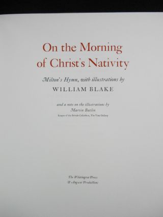 On the Morning of Christ's Nativity; Milton's Hymn