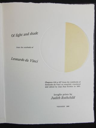 Of Light and Shade, from the Notebooks of Leonardo da Vinci; Chapters 118 to 127 from the notebooks of Leonardo da Vinci as compiled, translated and edited by Jean Paul Richter in 1883