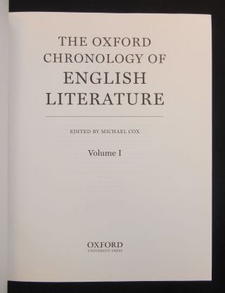 The Oxford Chronology of English Literature