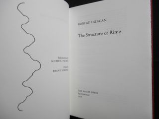 The Structure of Rime (with signed ATP print and prospectus)