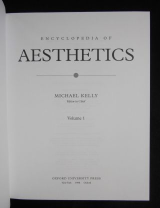 Encyclopedia of Aesthetics